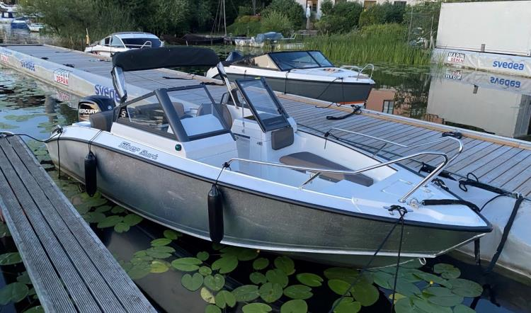 SILVER SHARK BR MED MERCURY F115